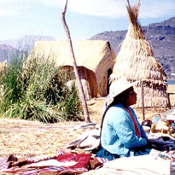 Floating Islands op Lake Titicaca
